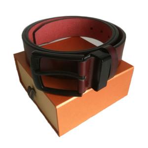 ceinture mode chaud mâle hommes occasionnels de haute qualité tige métallique ceintures en cuir PU lisse boucle de jeans solides ceintures femmes pour les femmes avec boîte