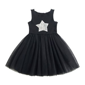 Clearance Excelent New Summer Dress Mesh GirlsToddler Kids Baby Girl Sleeveless Star Sequins Princess Lace Dress Clothes Z0205