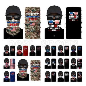 Trump Máscara Facial Máscara 2020 US Flag máscaras protetoras Ciclismo Bandana Bandana Presidente Trump Biden Eleitorais Magia lenço CYZ2722