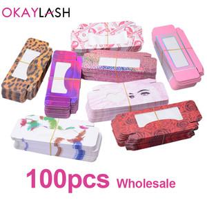 OKAYLASH Luxe Hotselling Vider papier doux Cils Boîtes d'emballage Beaucoup choix Bonbons Colorés Lash Emballage coffret de rangement