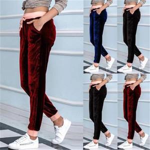 Calças compridas Fashion Trend cordão elástico na cintura Selvagem Harlan Esporte Jogger Pant Designer Feminino Loose Women Hetero Sweatpant cor sólida