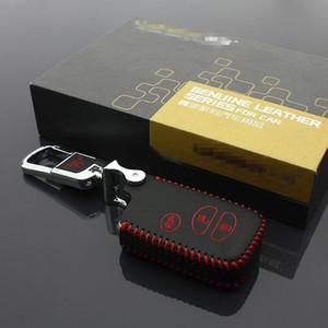 Auto-Schlüsseltasche Leder Schlüssel Abdeckung für Toyota Prius Land Cruiser 2007-2020 Autoschlüssel Fall Halter 3 Taste Autozubehör