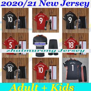 2020/21 Манчестер Взрослые дети набор SANCHO FERNANDES RASHFORD объединенный УТД 20/21 футбол Джерси вратарские футбола рубашки мундир