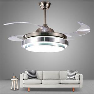 Neue unsichtbare Deckenventilator mit Licht für Wohnzimmer Ventilador de techo 42inch Blade-Fernbedienung LED-Deckenventilatoren 110V-220V