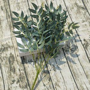 Willow Bar Моделирование Green Посадки Свадьба Дорога Willow Grass Украшение сад Главного праздничные для вечеринок Искусственных растений hDd7 #