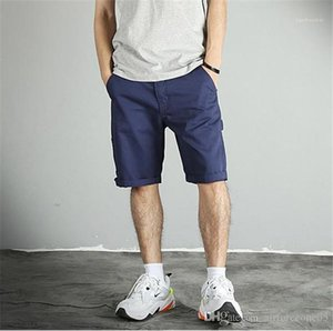 Pants With Pockets Summer Mens Cargo Shorts Loose Knee Length Zipper Short