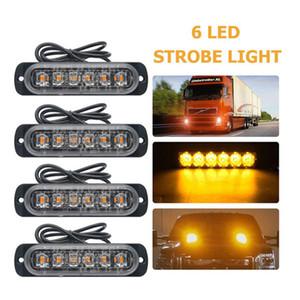6 LED Strobe легкогрузовых предупредительных световых сигналов 12-24 Универсального Emergency LED свет для автомобилей SUV автомобиль мотоцикл