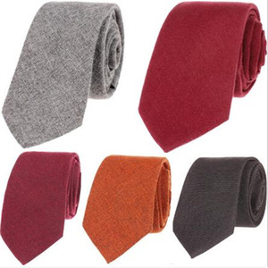6CM Narrow Collar Slim Cashmere Tie,Casual Solid Color Tie For Man,Business Tie Shirt Accessories