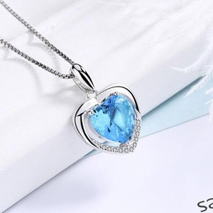Silver Heart Pendants Crystal Charms Rhinestone Forever Heart Pendant Charm for Necklace DIY Accessories Jewelry