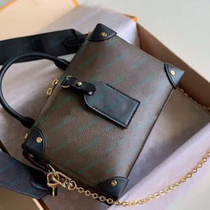 Çanta Kadınlar Küçük Çantalar Cüzdanlar Deri Moda Omuz Çantaları Çubuk Tuval Ve Altın Zincir Omuz Kayışı Kutusu Yeni Tote 20cm gel
