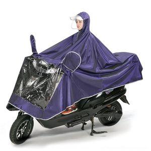 LK6JN BDW4J Zhuofeitu Battery Moto Motorcycle Raincoat Vehicle Singolo Jacquard Double Brim Motorcycle Inserviato Veicolo elettrico elettrico addensato