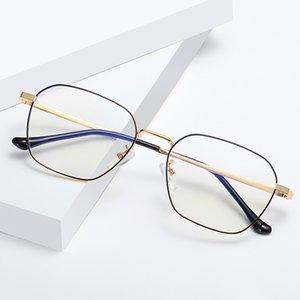 Frauen Blocking-Computer Bluelight Brillen Jahrgang Metallrahmen Anti Blaulicht Brillen Herren-Transparent Brille für Schönheit
