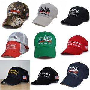 Donald Trump Hat 2020 Gardez l'Amérique Great Camo Chapeaux Capuchon de baseball ajustable sur mesure Wholesale # 457