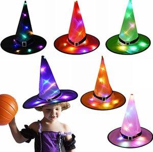 Хэллоуин ведьмы Hat с LED Light Glowing Witches Hat висячие Хэллоуин Декор подвески дерева светящегося Hat для детей