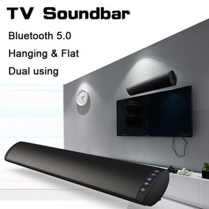 20W Bluetooth 5.0 TV Altoparlante barra audio stereo senza fili Home Theatre Hi-Fi Colonna Surround USB Sound System Parete Sound Bar