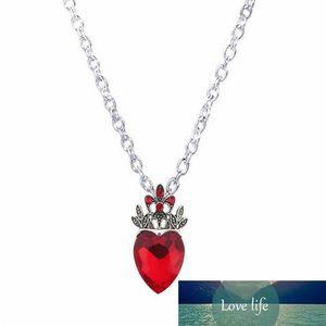Großhandels-Weihnachts Evie Halskette Nachkommen Rote Herz-Kronen-Halskette Herz-Königin Kostüm Fan Schmuck Pre Teen Geschenk
