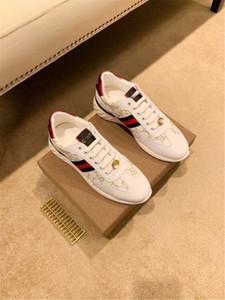 Gucci 2020 Top-Design-Freizeitschuh weißen Schlange Tiger bee Streifen rot grün blau Ace Sport Männer und Frauen Schuhe 34-46