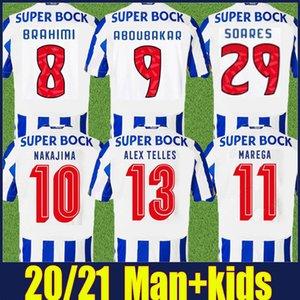 2020 niños de Jersey del fútbol de Portugal club de Alex Telles kit BRAHIMI Shoya DANILO camiseta de fútbol Infantil casa Fuera OTAVIO FELIPE AUGUSTO uniforme