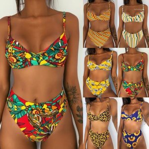 Designer Bikinis Sexy Floral Printed Multi Color Two Piece Suits Summer Womens Swimwear New Style Womens