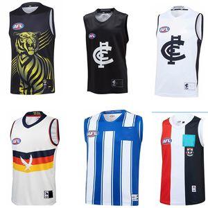 2020 AFL Джерси Аделаида Вороны North Melbourne KANGAROOS St Кильда Saints Carlton Blues Ричмонд Тигры легендами регби-Джерси синглет S-XXXL