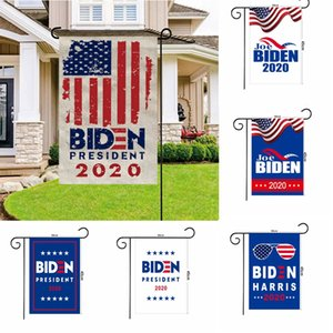 Joe Biden General Election Garden Flag 2020 Präsidentenkampagne Flagge Double Sided Flagge Banner 30 * 45cm Garten-Dekorationen