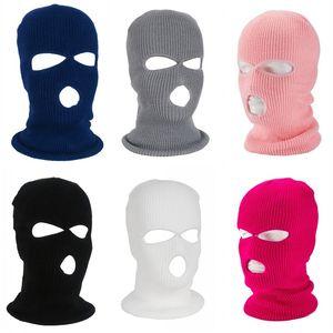 3 Löcher Full Coverage Headcover Neck Gathers Shields Gewebegesichtsabdeckung Cosplay Vizor elastische Maske Männer Boy 6 5yb C2