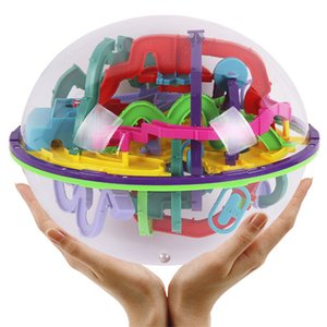 299 level 23cm Biger 3D Magic Maze Ball perplexus magical intellect ball educational toys Marble Puzzle Game IQ Balance toy065 Y200317