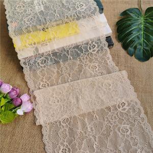 E1002-1 22CM garza tratto africano chiffon dal merletto di seta rosa bianca tessuto decorativo, adatto per Tradizionale Africana abbigliamento intimo