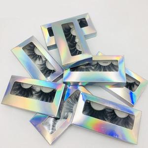 레이저는 두꺼운 긴 25mm의 가짜 포장 손수 만든 곱슬 지저분한 밍크 헤어 속눈썹은 밍크 눈 화장 9 개 모델을 사용할 수 DHL 무료 속눈썹