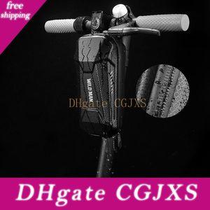 Wild Man Regendicht Multifunktionale Folding Bike Bag Fahrrad-Lenkertasche Radtaschen Hartschaumschle vorne Radfahren Tasche Zubehör