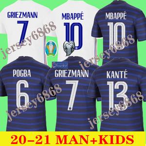 2020 2021 الفرنسية جيرسي 2020 التايلاندية الجودة 20 21FRENCH KIDS MBAPPE GRIEZMANN POGBA كرة القدم قميص كرة القدم جيرسي مايوه دي القدم