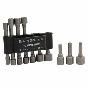 Hexagonal manga Boquillas Drill Bits adaptador destornillador eléctrico Herramientas fuerte Tuerca magnética conjunto de controladores RKEj #
