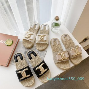 Women Sandals Summer Rubber Sandals Metal Buckle Beach Slide Fashion Ladies Slippers Indoor Flats Casual Shoes Big Size k09
