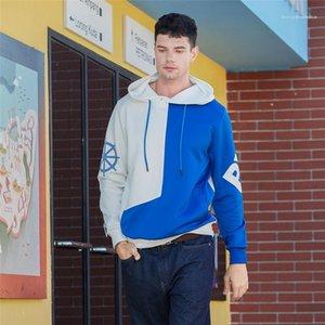 Manches Homme Vêtements Mode Casual Vêtements Longueur régulier Hommes Patchwork Hoodie Mens Designer pull avec capuche Hoddies longue