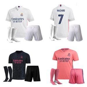 2020 2021 Real Madrid Fußball Jerseys kurz Home Away Dritte Fußball-Kit GEFAHR ZIDANE BENZEMA Fußballhemd Camiseta De Futbol Männer Kit-Sets