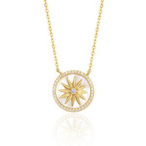 designer de jóias colar de 925 prata esterlina cadeia Clavícula Adequado para a festa de Reunião social Branco Fritillary Compass pendant