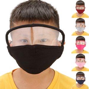 Мода Дети Маска для лица Пылезащитно дышащий С Защита глаз маска маски для детей против смога Многоразовые маски DHC1336