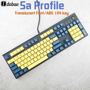 사 프로필 기계식 키보드 키보드 키 애비 Doubleshot 재료 백라이트 블랙 그레이 옐로우 레드 블루 컬러
