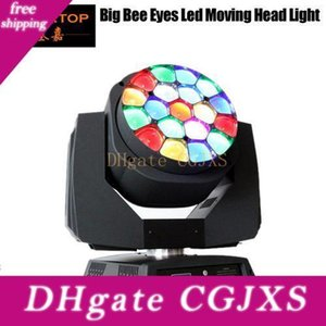 Freeshipping Sample Big Bee Eye Led Moving Head Light 19x15w RGBW 4в1 цветосмесительное 450w Osram привело лампа с зум Функция DmX Tp -L664