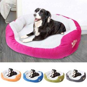 Pequeno Pet Cat Dog cama macia Aqueça Kennel Dog House filhote de cachorro Almofada Nest cestas Mat Blanket Outono Inverno Acessórios