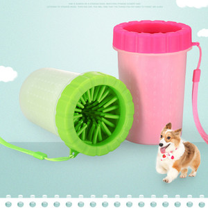 Lanyard Style Pet Foot Washing Cup Pet Supplies Dog Cleaning Cup Cat Washing Paw Silicone Brush