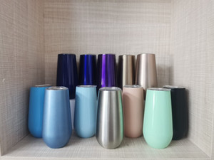 6oz Wine Glass Stainless Steel Tumbler Double Wall Vacuum Drinking Cup Insulation Wine Glass Creative Egg Shape Cups Wine Mug A02