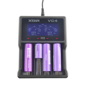 Hot sale XTAR Battery Charger VC2 VC4 VC2S VC4S LCD Charger For 14500 14650 18350 18490 18500 18700 26650 22650 20700 21700 18650 Battery