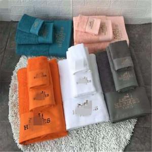 3PCS New confortável toalha Nordic Cotton Bath Set HH Carta Padrão Sports toalha de alta qualidade Toalhas Designer Sets