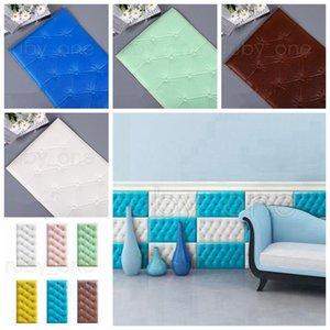 30 * 60cm pannelli di parete impermeabile XPE Foam muro Adesivi fai da te PU per bambini in camera autoadesivo della parete di asilo della decorazione domestica RRA3488