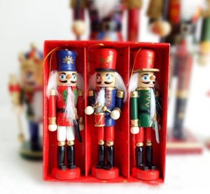 Coloured Soldiers Drawing Gift Walnuts 12cm Made Pure 12 Ornaments Creative Pcs lot Nutcracker Manual Christmas Wood xhhair bmDSa