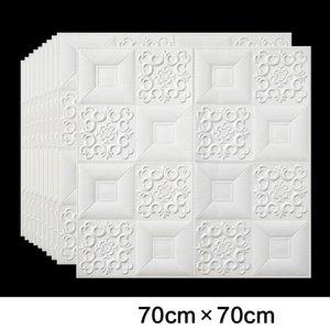 3D Roof Ceiling Wallpaper PVC Waterproof Self-adhesive Foam Wallpaper Living room Bedroom Roof Ceiling Contact Paper Decor Decal