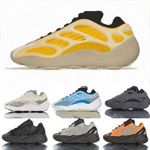 New YEEZYS 700 V3 v2 Alvah Glowing in the Dark Running Shoes Meninas sapatilhas 3M MNVNS laranja Homens Meninas Meninos Azael Preto Kanye Wests reflexivo formadores de osso