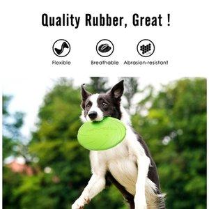 Chew Jouet Dog Silicone Flying Soucoupe Disques Jeu produits Pet Interactive Funny Chiot Outils d'entraînement Chien Motion Flying Résistant DQDTE