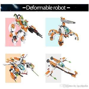 الجسيمات الصغيرة بناء كتلة تشوه الألعاب التعليمية الروبوت للأطفال 4styles المخابرات الإبداعي تجميع الطوب الصبي اللعب 08